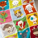 Zoodiacs C2c Crochet Afghan One Dog Woof
