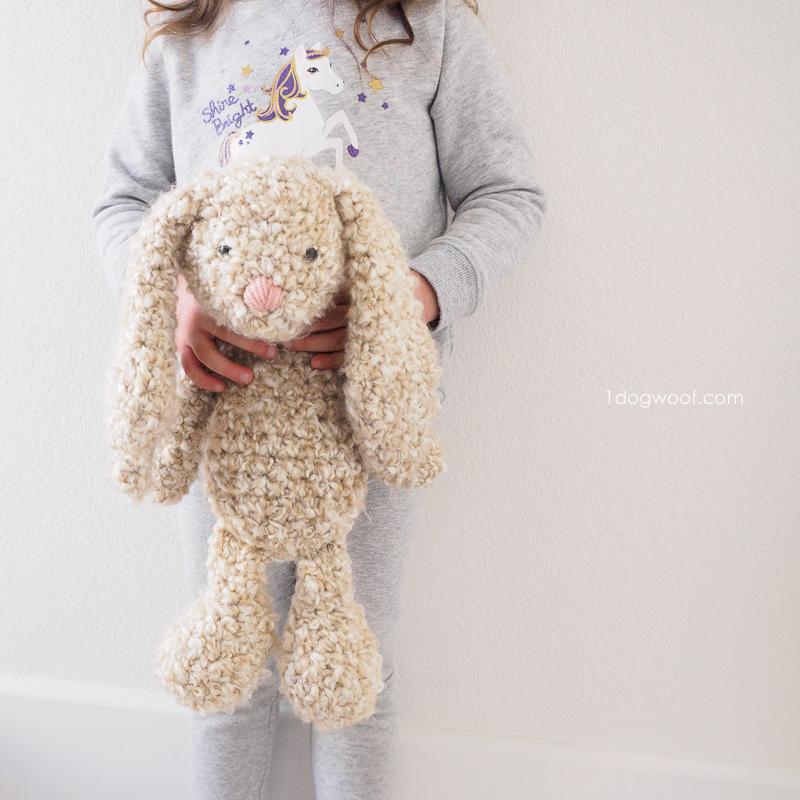 Floppy-eared stuffed bunny crochet pattern