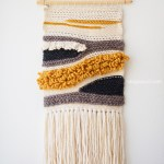 How To Make Your Own Woven Crochet Wall Hanging One Dog Woof