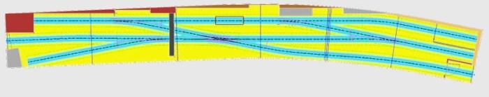 Gleisplan mit Rillenschienen