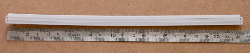 1 Meter Rillenschiene
