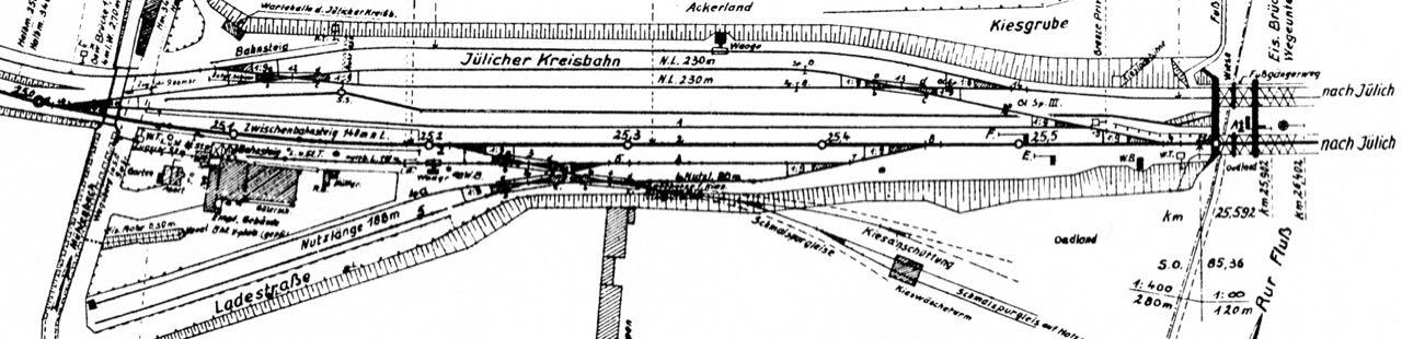 Bedienung Privatanschluss Jülicher Kreisbahn