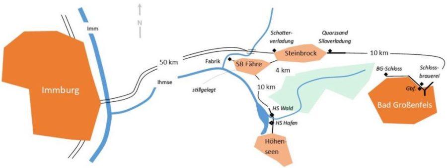 Fiktive Karte der Bahnen im Tal der Ihlmse