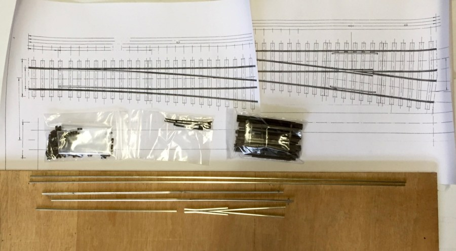Bauteile der Hegob-Weiche Ausgepackt