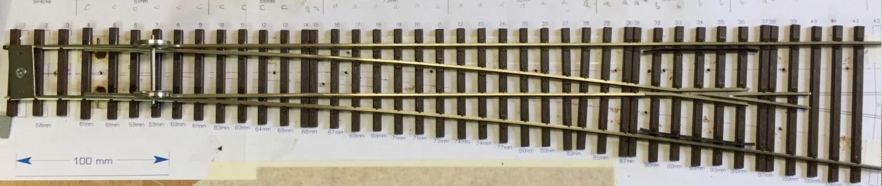 Hegob-Weiche, ein längerer Baubericht