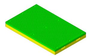 CAD-Modell der Vakuumplatte