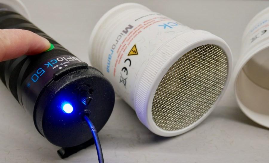 Kontroll-LED am Bflock