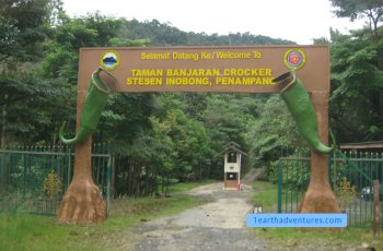 Entrance to the Sabah Parks Inobong Station at the back of Dongongon