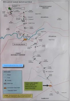Inobong to Tambunan Salt Trail Map
