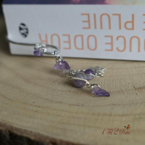 marque page alu amethyste wire wrapping 3