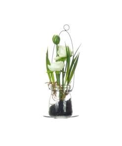 umely-kvet-v-skle-kremovy