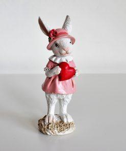 Dekoračná zajačica ružová