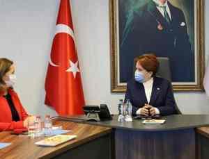 DİSK'ten İYİ Parti Genel Başkanı Akşener'e ziyaret