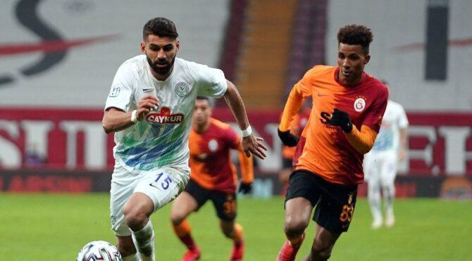 Galatasaray 17 yıl sonra evinde Rizespor'a yenildi