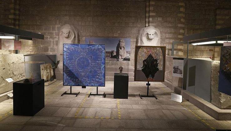'Anadolu Uygarlıklarından İzler' sergisi Anadolu Medeniyetleri Müzesi'nde sanatseverlerle buluştu