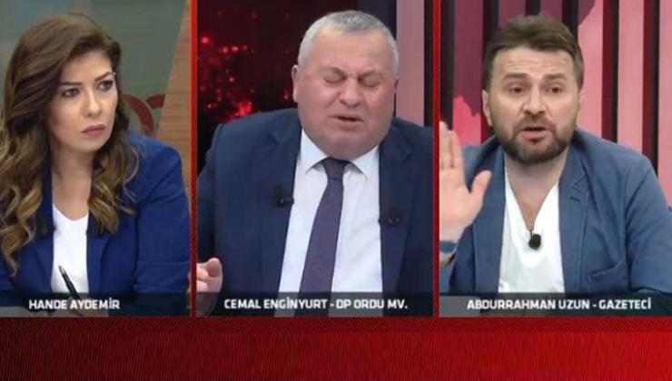 Cemal Enginyurt ve Abdurrahman Uzun birbirine girdi: AKP'liyim de, çıkıp da gazeteciyim deme bana!