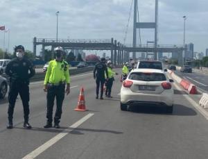 15 Temmuz Şehitler Köprüsü'nde 'tam kapanma' denetimi