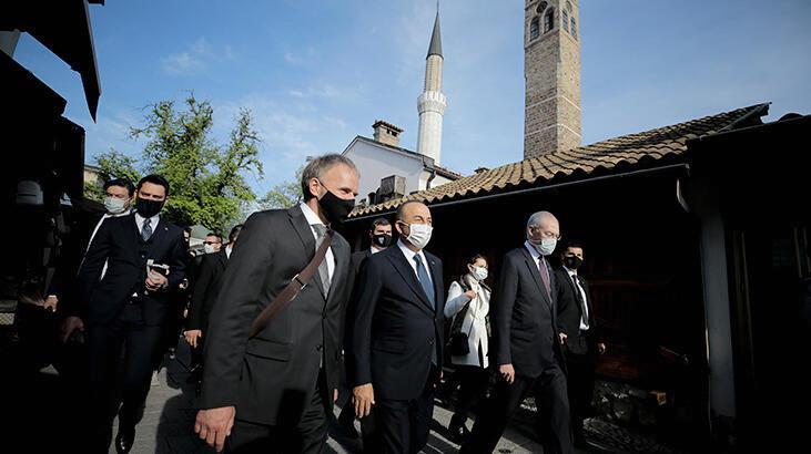 Bakan Çavuşoğlu'nun Bosna Hersek'teki temasları başladı