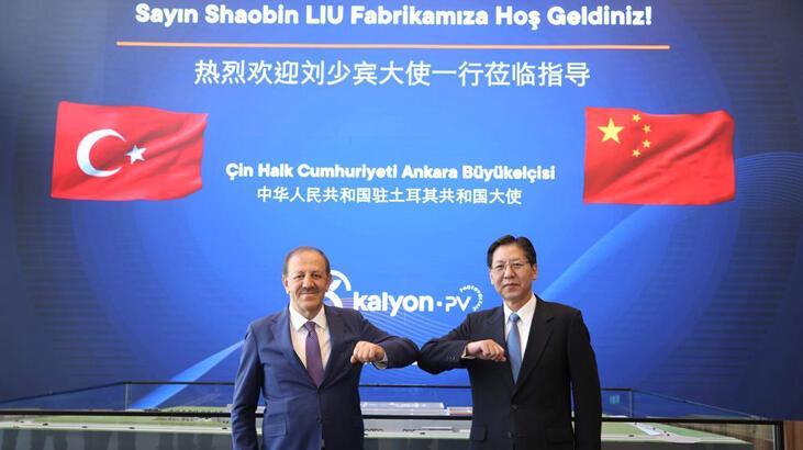 Çin Ankara Büyükelçisi, Kalyon Güneş Teknolojileri Fabrikası'nı ziyaret etti