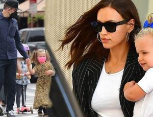Irina Shayk ile Bradley Cooper'ın kızı Lea şıklıkta annesiyle yarışıyor