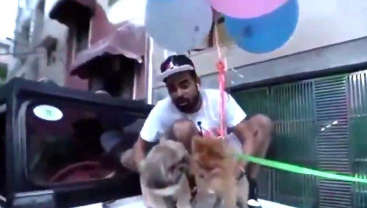 Köpeğini Helyum Balonlarla Uçuran YouTuber Tutuklandı
