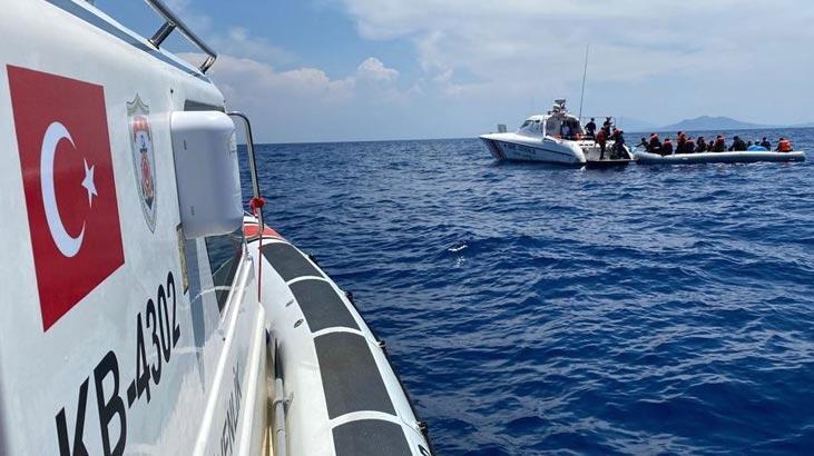 Datça ve Fethiye'de 107 kaçak göçmen kurtarıldı