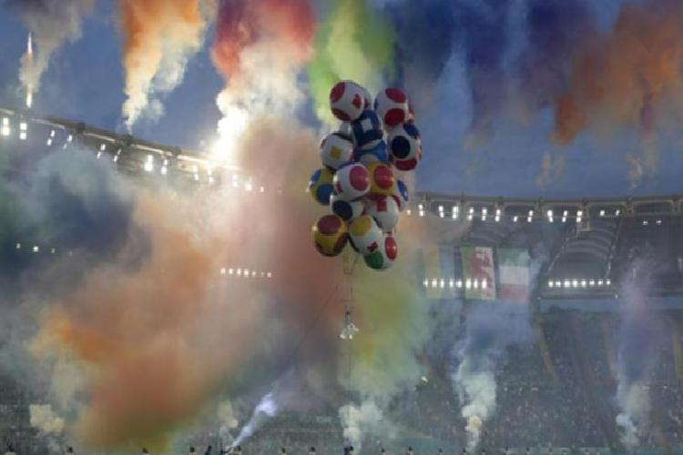 roma olimpiyat stadinda burak yilmaz italyan isme gitti gorkemli acilis 5