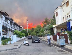 Marmaris'te yangına müdahalaler sürüyor: 1 kişi hayatını kaybetti