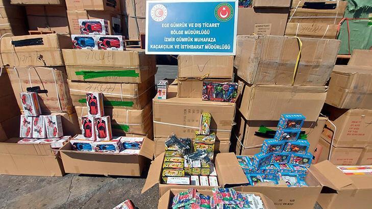 i̇zmir'de gümrük kaçağı 10 bin 330 oyuncak ele geçirildi!