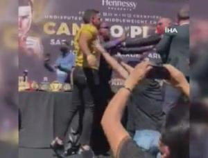 meksikalı ve amerikalı iki boksör birbirine girdi!