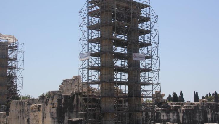 tarihi apollon tapınağı'nda restorasyon