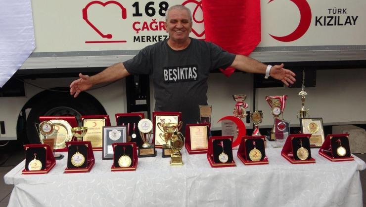 6 dünya rekoru kırdı: emin şahin, 420. kan bağışını gerçekleştirdi