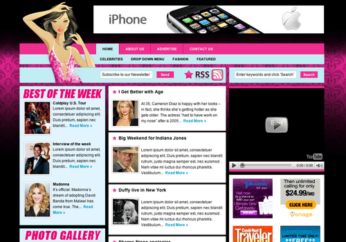 Celebrity Press WordPress Theme