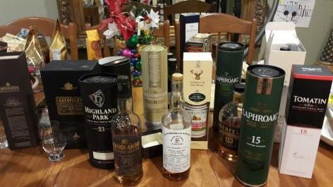 whisky recent tastes dec 2016
