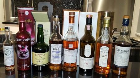 whisky recent tastes nov 2016