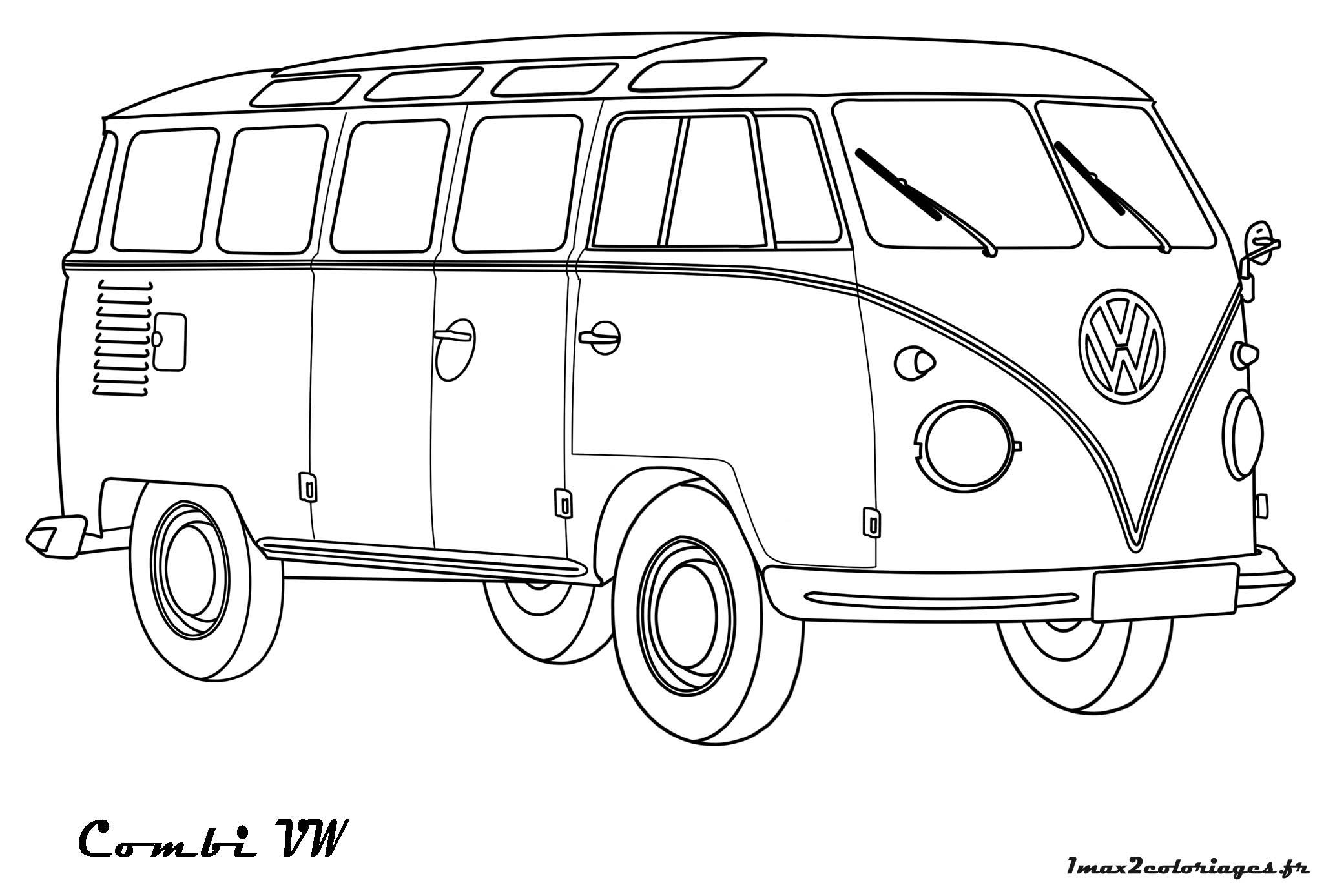 volkswagen a colorier coloriages de bagnoles picture car pictures