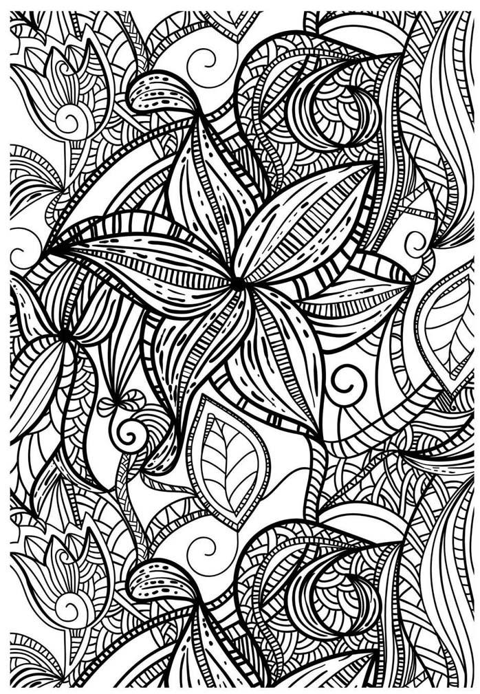 coloriage pour adulte anti stress fleurs géométriques a imprimer