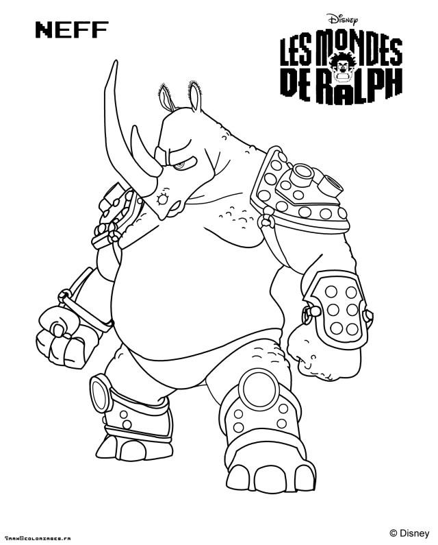 Coloriage Les mondes de Ralph - coloring page Wreck-It Ralph