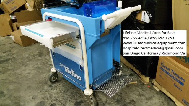 Lifeline medical carts for sale 858-263-4894