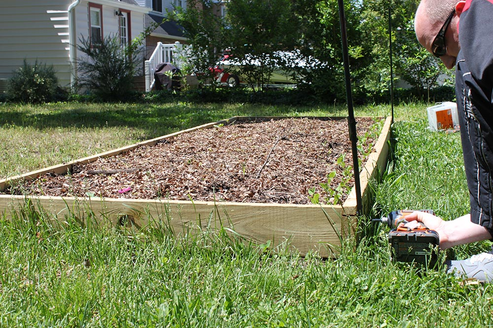 Building Raised Garden Along Fence