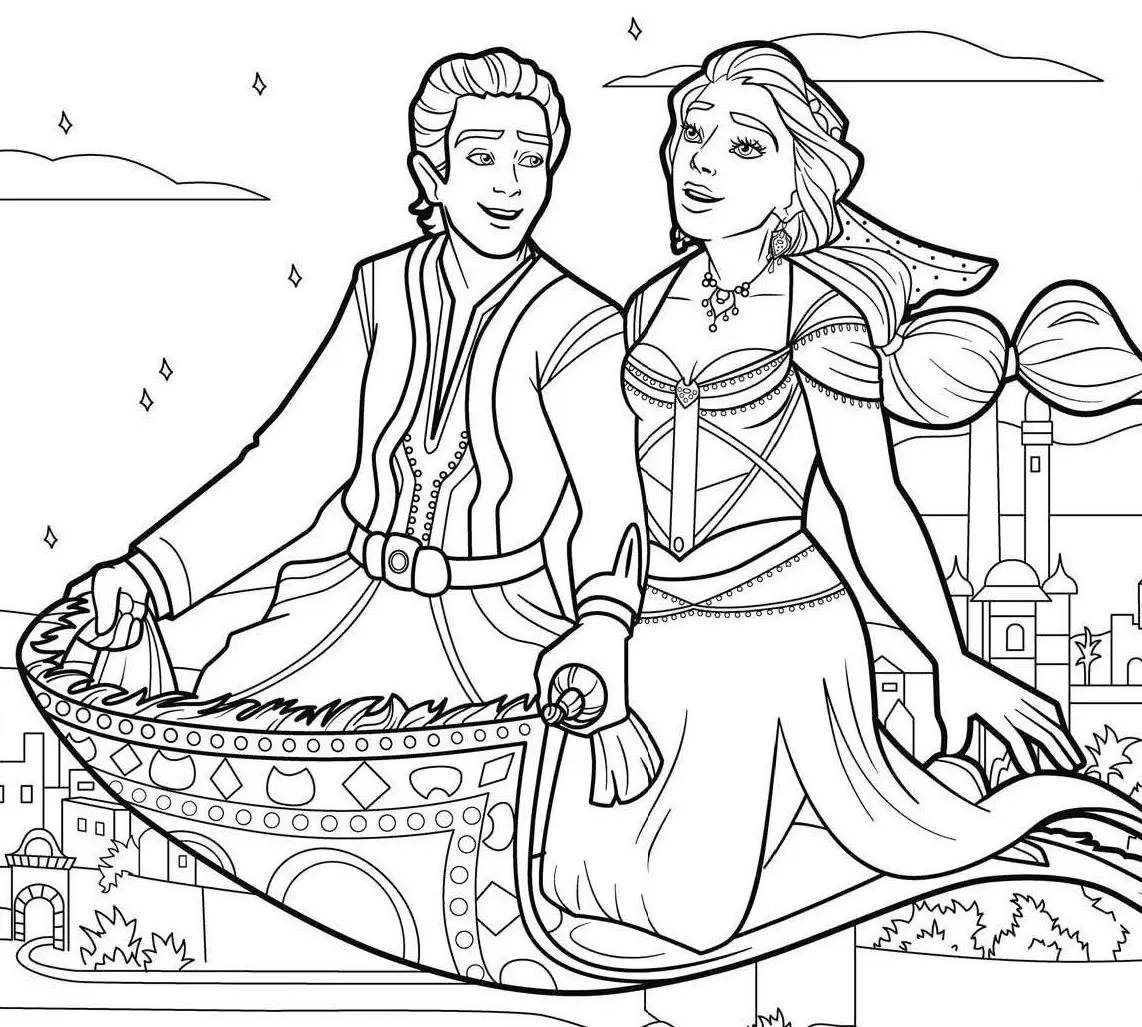 Aladdin Movie Coloring Pages 1nza