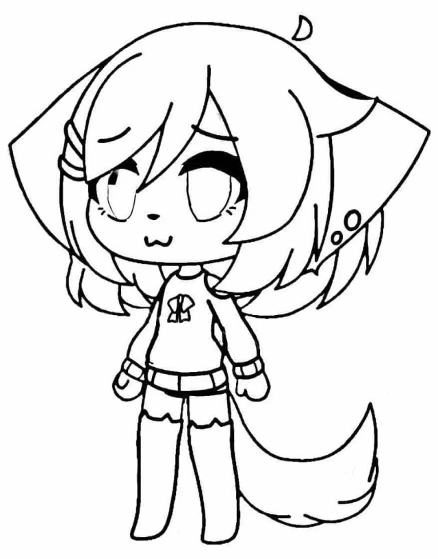 Gacha Life Coloring Pages - 24NZA