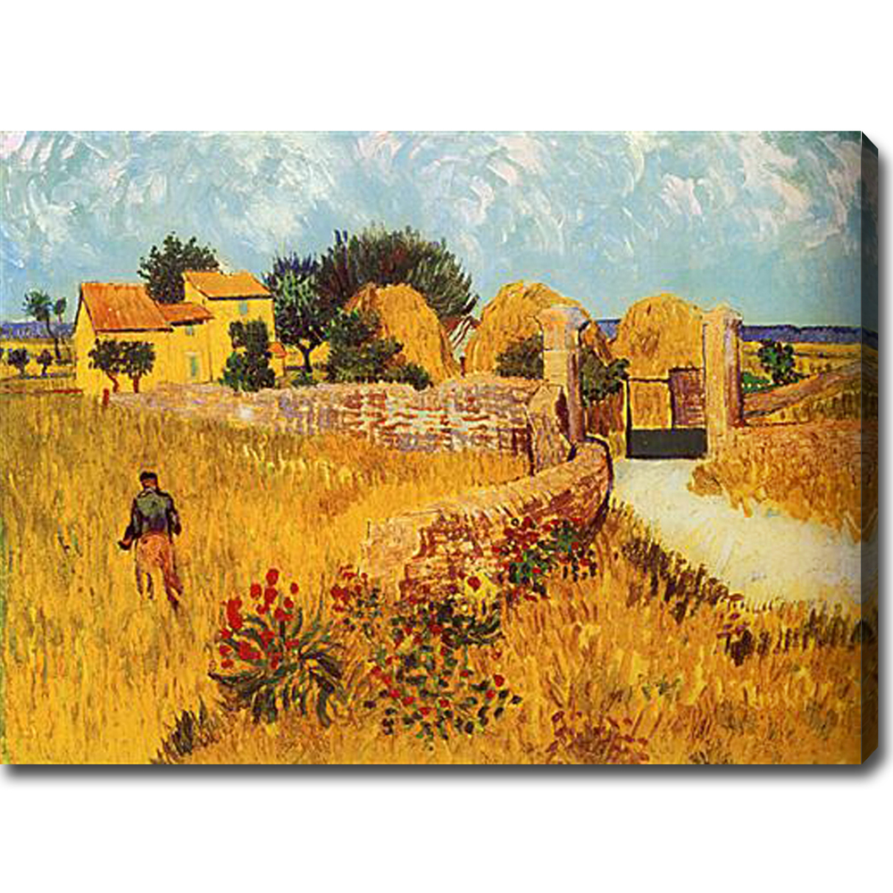 Farmhouse in Provence-Vincent Van Gogh oil on canvas - Click Image to Close
