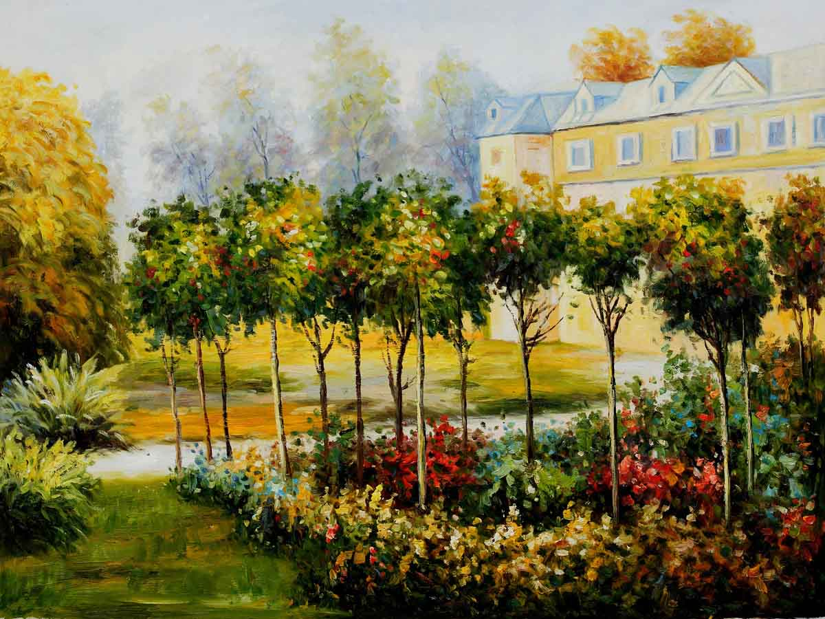 The Garden at Fontenay, 1874 - Pierre Auguste Renoir Painting - Click Image to Close