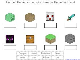 Minecraft Kindergarten Printables 1111