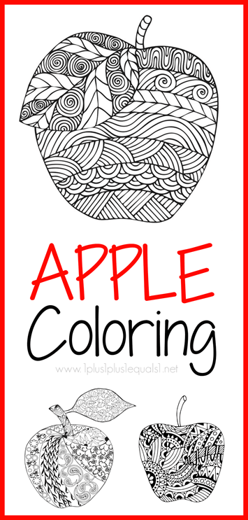 apple coloring pages for adults or kids 1 1 1 1
