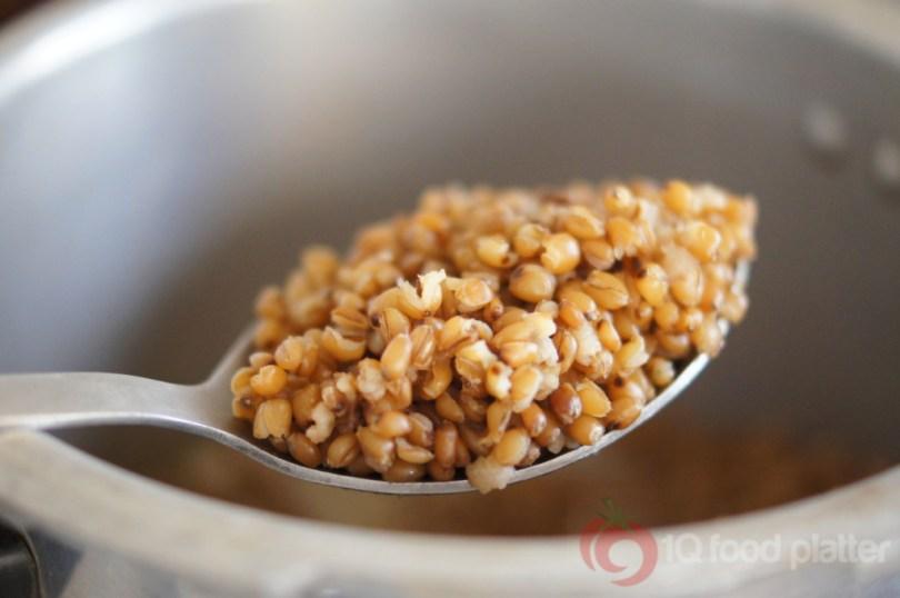 boiled whole wheat