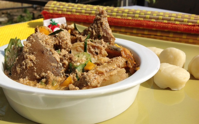 how to cook Egusi Pepper soup a Nigerian dish from Delta state
