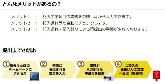 協会けんぽの「届書・申請書作成支援サービス」