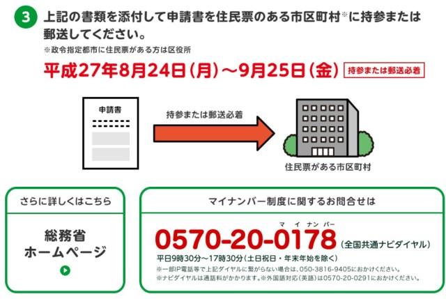 9月25日まで!マイナンバー(個人番号)の住民票の住所以外の受取申請